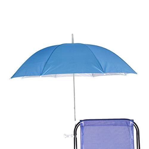 Sombrilla para Silla Playa, Jardín, Piscina,Terraza o Patio, Protección solar UPF50+, Ø100cm (Azul Celeste 2)