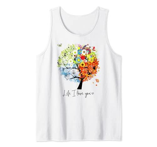 Bel amour l'arbre des saisons reconnaissant Débardeur