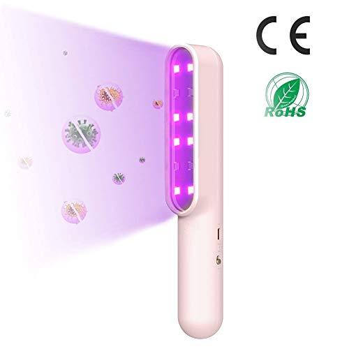 Portable UV Kiemdodende Lamp UV-Lamp Snelle Desinfectie Voor Kleine Voorwerpen, Handheld UV-Licht UVC Sterilisator Light Ideaal Voor Pendelaars Baby Care En Families [Energieklasse A +]