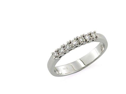 Anello Riviera in Oro Bianco 18 Kt con Diamanti