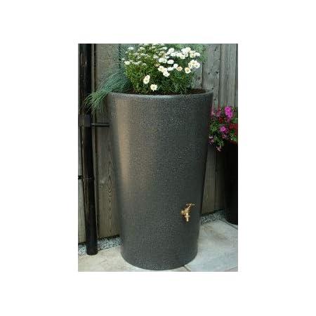 Ecosure 180 Litre Decorative Garden Planter Water Butt Rainwater Collection Terracotta Effect Blue
