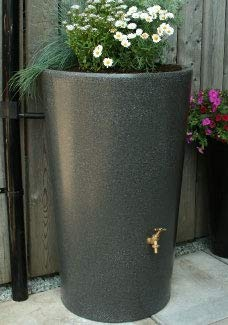 Ecosure Original Organics 180 Litre Decorative Garden Planter Water Butt Rainwater Collection (Millstone) (Terracotta Effect)