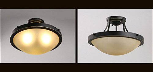 MKKM Lámparas de Techo Decorativas para el Hogar, Lámparas de Decoración de Discotecas para Bares, Cafeterías, Lámparas de Techo para Muebles Lámparas de Techo de Hierro Retro Lámparas de Dormitorio