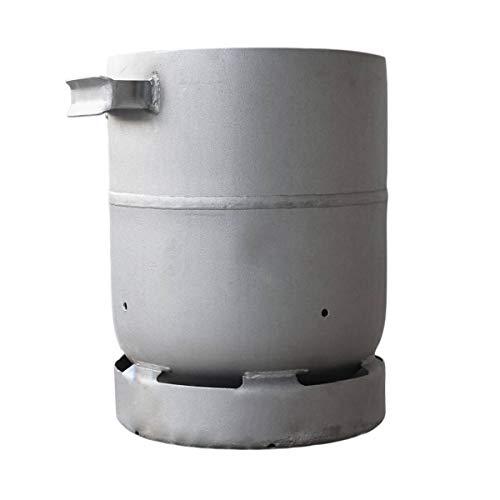CAGO 11 kg Feuertonne Grill mit Griff Feuerstelle Lagerfeuer Holz