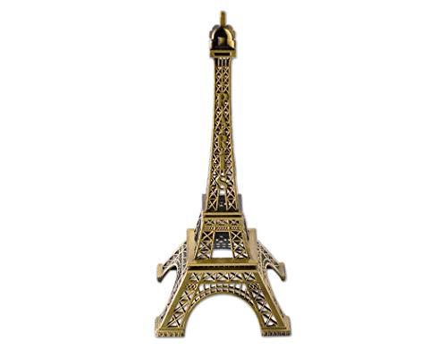 Mini-Eiffelturm-Statue, Metallic-Modell, für Schreibtisch etc., metall, 32 cm