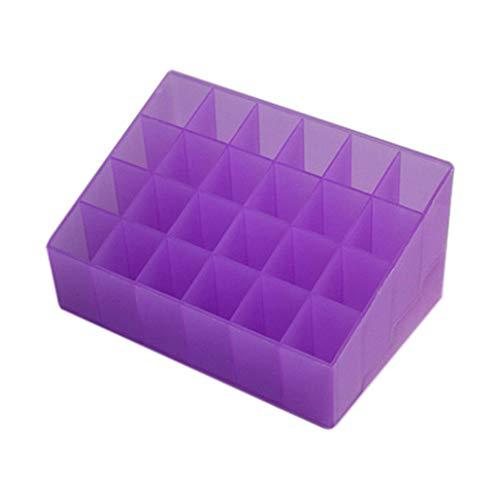 collectsound Présentoir à 24/40 compartiments pour rouges à lèvres et pinceaux de maquillage Violet