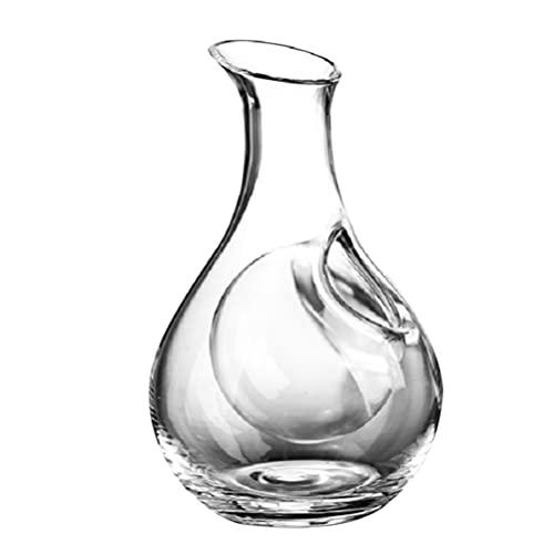 ifundom Decantador de Vino de Cristal de 385Ml Botella de Vino de Bolsillo de Hielo Dispensador de Vino de Estilo Japonés para Botellas de Vino para Restaurante en Casa
