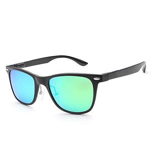 Yeeseu Gafas de sol de los hombres y las mujeres de uñas gafas de sol ultra ligero de aluminio y magnesio polarizó las gafas de moda (Color: Verde, Tamaño: Libre) Ciclismo, Correr, Pesca, Pesca, Sende