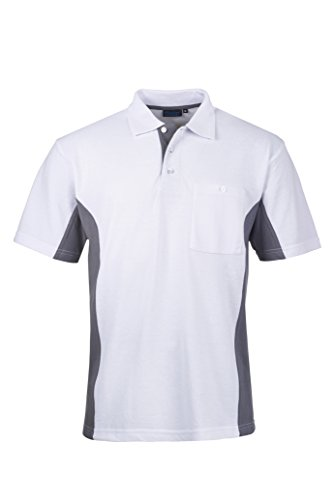 Pionier Polo-Shirt 2farbig M Weiß
