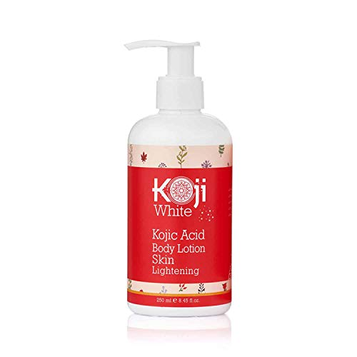 Koji White Kojic Acid Skin Brightening Body Lotion – Natural Moisturizer & Glowing – Uneven Skin Tone 8.8 Ounce Bottle