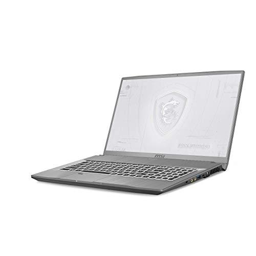 MSI WF75-210ES - Ordenador portátil de 17.3 ' FullHD ( Intel Core i7-10750H, 32GB, 1TB SSD, NVIDIA Quatro T1000-4GB, Windows 10 Pro) Gris - Teclado QWERTY Español