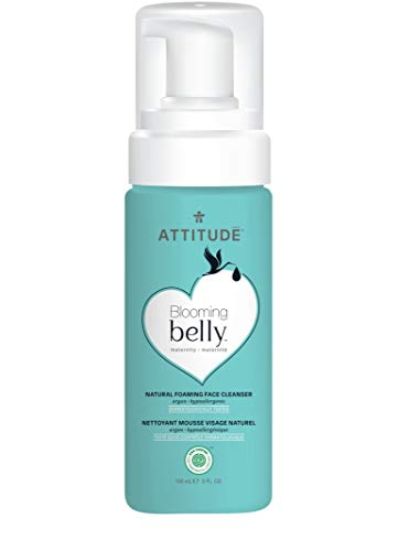 ATTITUDE Blooming Belly, Hypoallergenic Foaming Face Cleanser, Argan, 5 Fluid Ounce