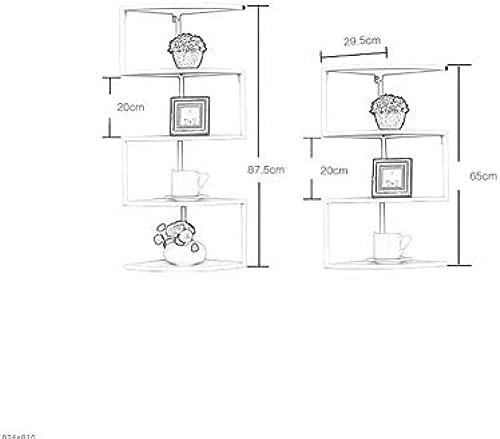 Willesego Bücherregal Ecke schmiedeeiserne Dreieck Klammern Regal Wand f erf igen Bücherregal Trennregal Wohnzimmer Eckregal Wandregale Bücherregale (Farbe   Schwarz Größe   3 Tier)