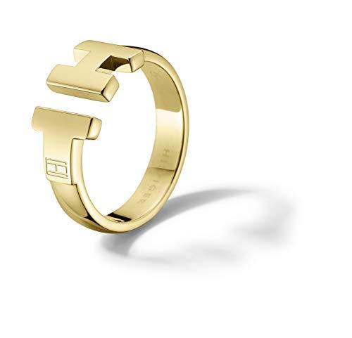 Tommy Hilfiger Damen - Ring 333 Gelbgold Emaille Ringgröße verstellbar - 2700863B