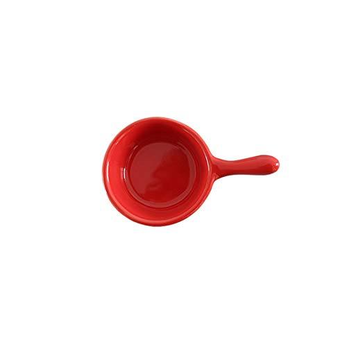 Tderloi Dinner plate 1 PC Creative ceramics seasoning small dish Round Polygon square color sauce sauce dish seasoning plate (Color : Red)