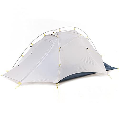 XinBao Carpa Carpa Doble Ultraligera Al Aire Libre 2 Personas Senderismo Profesional Camping Carpa a Prueba de Lluvia Blanco 84.64x23.62x35.43 Pulgadas