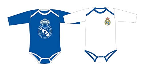 Real Madrid Pack 2 Bodys Bebé Manga Larga (12 Meses)