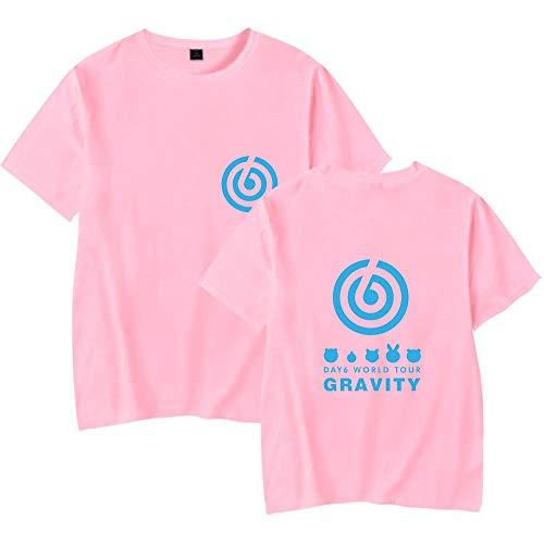 DAY6 Gravity Camiseta Manga Corta Basica Mujer Hombre Harajuku Sudadera Sin Capucha Camisa Sweatshirt Sueter Blusa Cuello Redondo Jersey Verano Pulover Hip Hop Jumper Tunica Top A15278TX015L