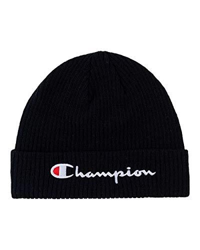 Champion Herren Life Men's Script Beanie Strickmütze, schwarz, Einheitsgröße