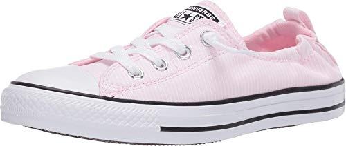 Converse Chuck Taylor All Star Shoreline Linen Slip on Sneaker für Damen, Pink (Kirschblüten/Weiß/Schwarz), 37 EU