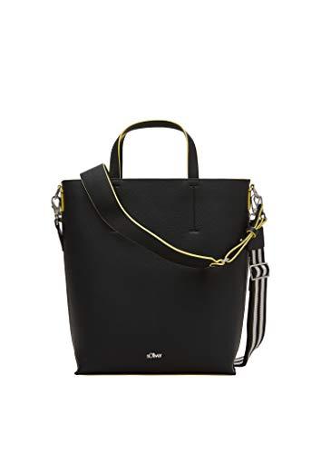 s.Oliver Damen Shopper mit Neon-Details black 1