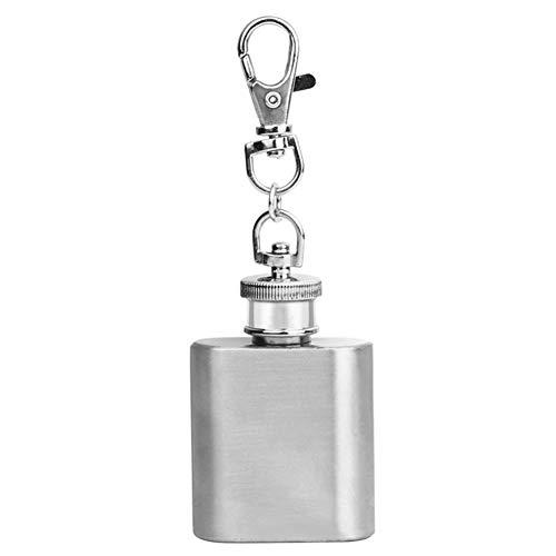 Macabolo draagbare mini roestvrij stalen hip fles alcohol flacon drinkfles fles met sleutelhanger