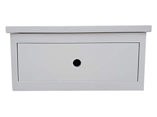 Muebles pejecar mesita para Colgar Modelo Oslo de 1 Cajon lacada en Blanco Fabricada en Madera de Pino insigni Maciza