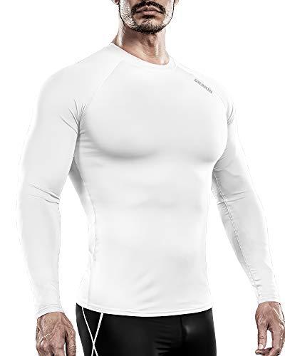 DRSKIN Compression Cool Dry Sports Tights Pants Shorts Baselayer Running Leggings Rashguard Men (HOT Round SWH35, XL)
