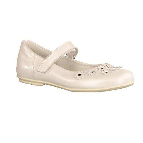 Däumling 430083M-71 Perlato Weiss (weiß) - Balerina - Kinderschuhe Teens Mädchen Gr. 25-42, Weiß, Leder