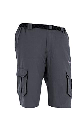 Izas Urubamba Pantalones Cortos de Montaña, Hombre, Gris Os