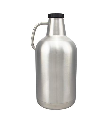 128oz Stainless Steel Vacuum Insulated Wide Mouth Beer Growler 1 Gallon