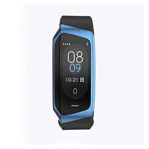 GYY Smart Watch Hombres Mujeres Sports Band Fitness Pulsera Rastreador Smartband Presión Arterial a Prueba De Agua SmartWatch Deporte Reloj De Pulsera De Los Hombres (Color : Blue Blue)