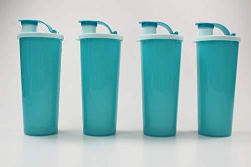Tupperware To Go Eco 470 ml (4) Turquesa con Cierre de Clip 37916