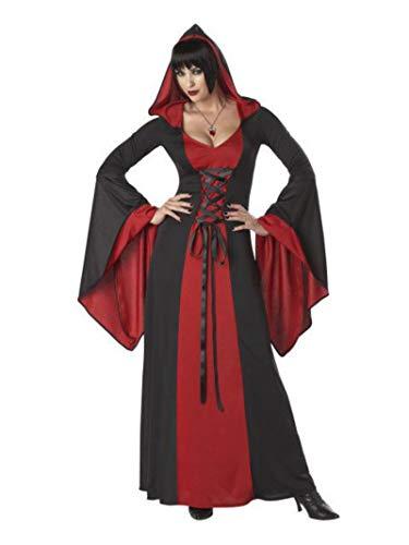 California Costumes 1148 Deluxe Peignoir à capuche pour adulte Rouge/noir Taille XL