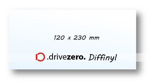 1x .drivezero. Diffinyl Lichtstreufolie 110 x 210 mm, für alle Taschen-/Kopf- und Arbeitslampen