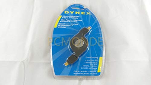 Dynex 4' Retractable IEEE 1394 (FireWire) 4-Pin to 4-Pin Cable
