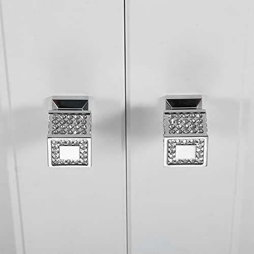 Manopole per Mobili 2pc Super Lusso Porta per la porta Pull Tumer Manopole Crystal Cassetto Cabinet Manopole e Maniglioni Cassettiera Armadio Cassetto Cassetto Cassetto Maniglie Maniglie Armadio