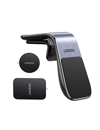 UGREEN Supporto Cellulare Auto Magnetico Clip, Porta Cellulare da Auto Universale Bocchette d'Aria, Supporto Calamita Compatibile con iPhone Galaxy Huawei Xiaomi ECC