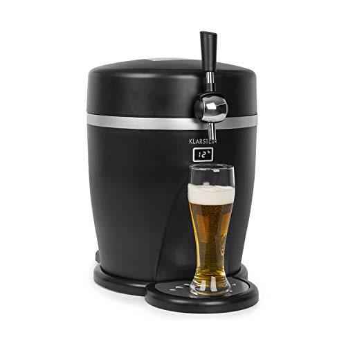 Klarstein Tap2Go dispensador de cerveza portátil 2 en 1 - para barriles de 5 litros, nevera de 13 litros, para casa y para el coche, temperatura fría hasta los 3 °C, enfriamiento termoeléctrico, n