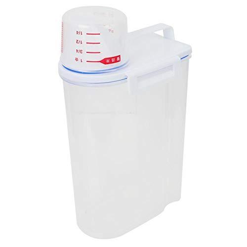Sellos de cocina de plástico espesado a prueba de insectos a prueba de humedad Cubo de arroz Botellas y frascos de almacenamiento con nuevas tapas herméticas irrompibles Plástico de grado alimenticio
