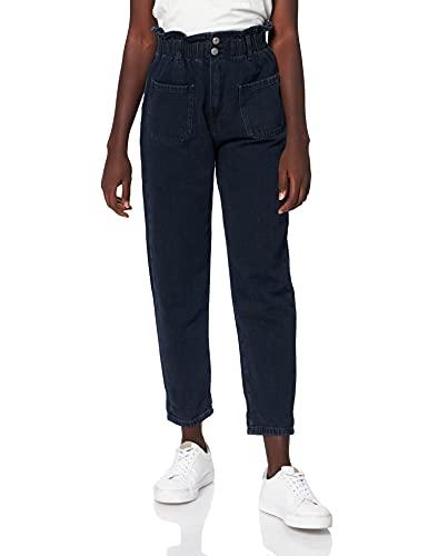 Teddy Smith P-Emy Pocket Used Pantalon, Blue Black, M Femme