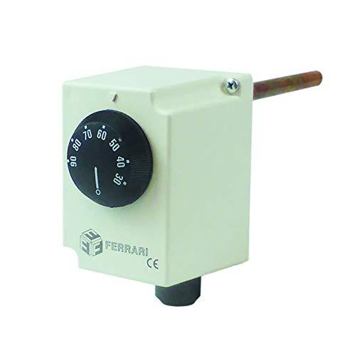 Termostato de contacto mecánico con bombilla de inmersión incorporada, homologado Inail.