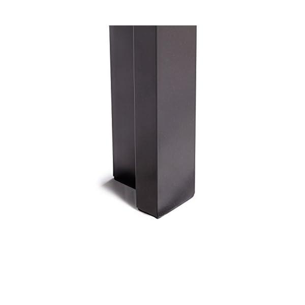 Vanage VG-5173 Polywood Aluminium Gartentisch, 150x90cm Schwarz