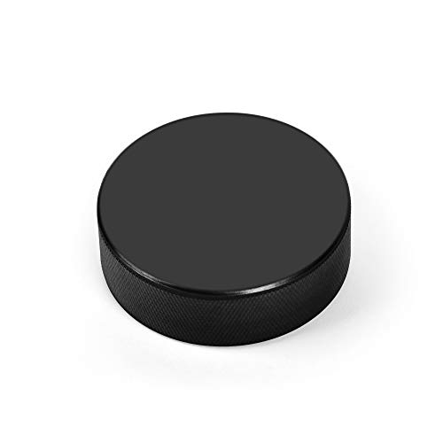 AceFox Ice Hockey Pucks for Practicing and Classic Training, Official Regulation, 6oz Diameter 3 Thickness 1 Black, Set of 25
