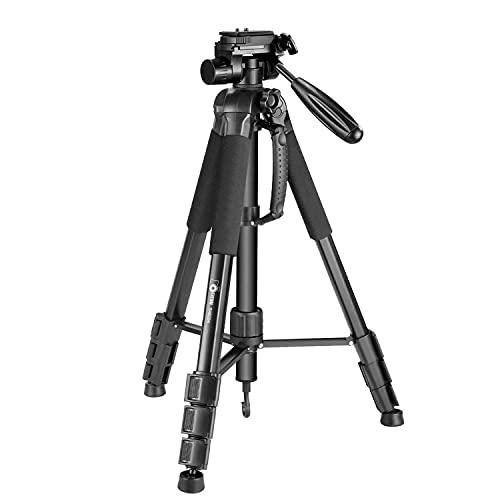 Eienn カメラ三脚 一脚可変 全高177cm 脚径25mm 4段 3Way雲台 水準器付き アルミ製 クイックシュー式 一眼レフ ビデオ デジカメ対応 キャリングバッグ付き
