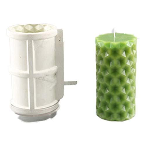 wangdazhaung Molde De Silicona para Velas, Molde De Resina Hecho A Mano para Velas Molde De Yeso DIY, Aproximadamente 0.4 Kg