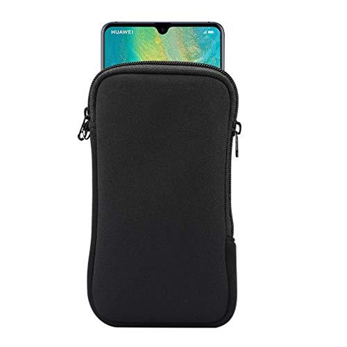 Neopren-Schutzhülle für Samsung Galaxy Note 20 Ultra 5G, Note 10+, S20 Plus, A20s, Moto G Power, LG Stylo 5, Pixel 4 XL, Schwarz