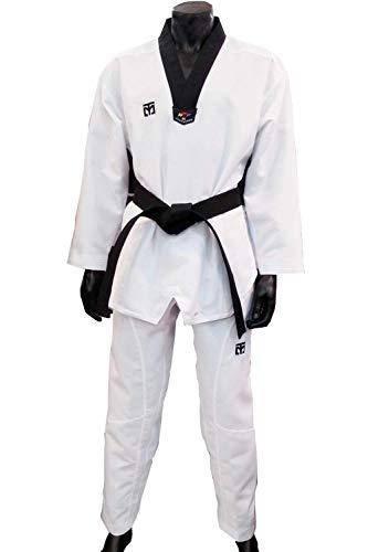Mooto Extera s5 Uniforme Dan dobok Taekwondo Coreano Corea Tae Kwon do per l'Uomo 170(Altezza: 170~179cm)(5.58~5.87ft) Bianco