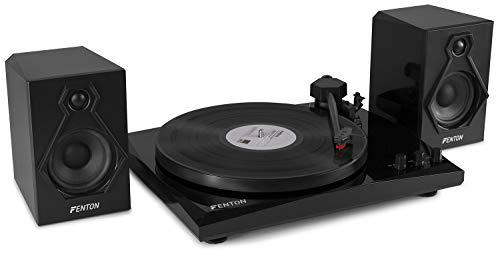 Fenton RP160B Platenspeler High-End met Bluetooth en Speakers zwart