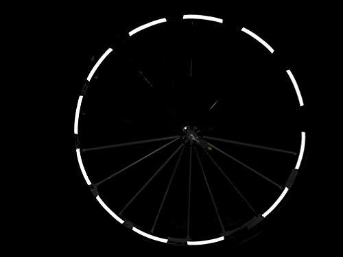 Set Reflektor Fahrrad Felgenaufkleber, 40 Stück Reflexsticker, reflektierende Aufkleber, Reflektoren, (schwarz, breit)
